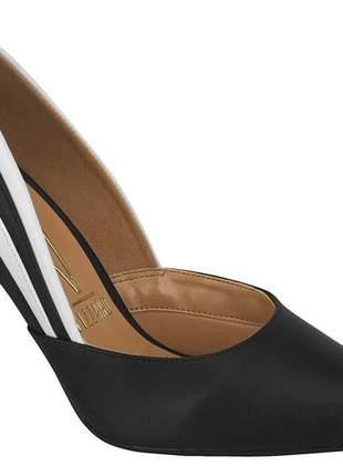 Sapato scarpin vizzano preto branco salto alto