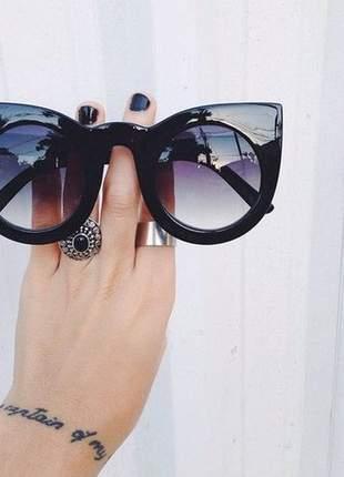 7982a2f0a Óculos de sol feminino gatinho cat eye oversized - R$ 70.00 (redondo ...