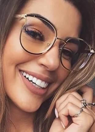 Armação óculos de grau feminino novidade blogueira geek