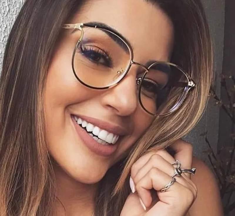d0158b2f8 Armação óculos de grau feminino novidade blogueira geek - R$ 80.00 ...