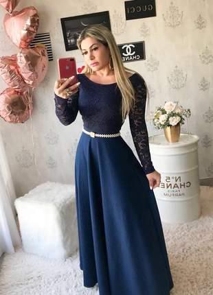 Vestido longo luxo
