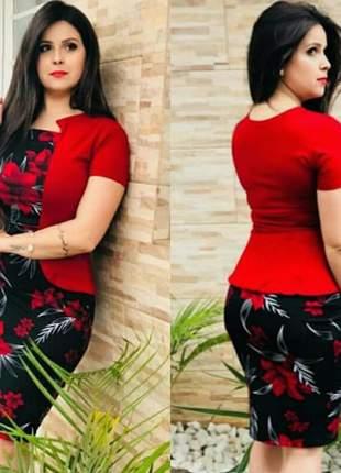 Vestido feminino midi tubinho moda evangélica