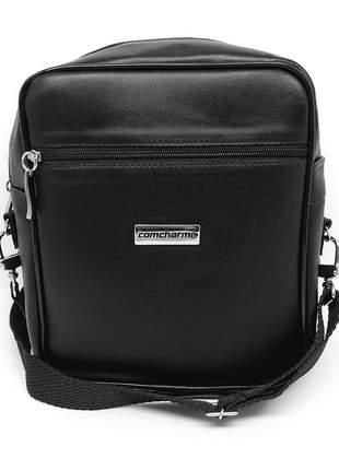 Shoulder bag comcharme preta