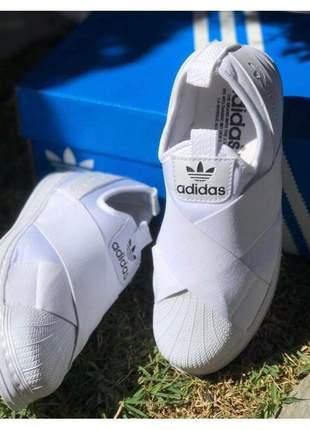 Tênis adidas slip on branco 2019 (importado)