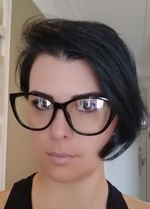 Óculos armação feminina gatinho para lente de grau + case