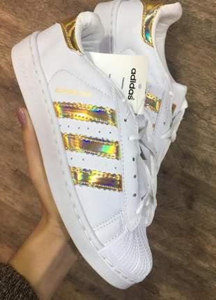 Tênis adidas super star refletivo