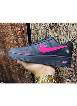 Tênis nike air preto rosa promoção
