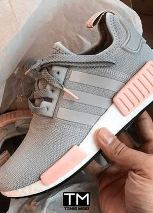 Adidas nmd cinza e rosa