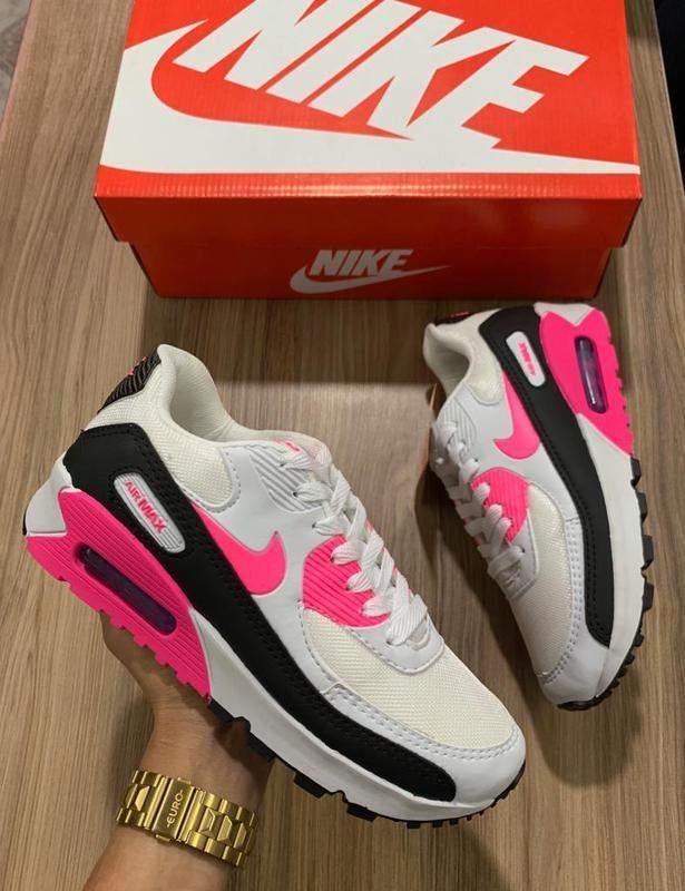tenis nike air max feminino preto e rosa