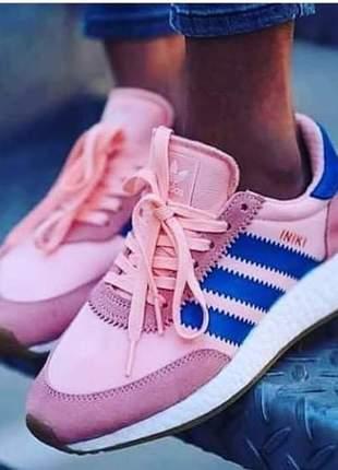 Adidas iniki rosa e azul