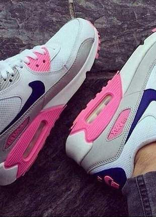 Air max 90 branco/rosa/roxo