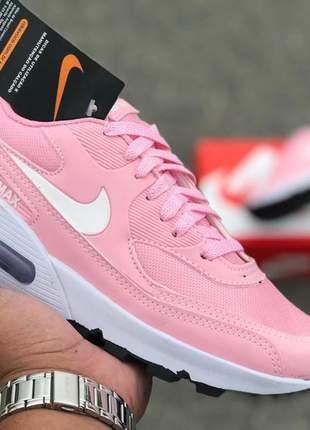Nike air max 90 rosa/sola branca