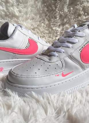 Nike air force branco/rosa