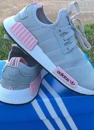 Adidas nmd cinza/rosa
