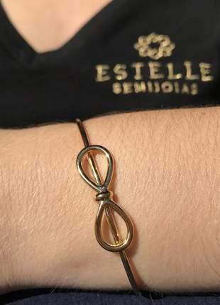 Bracelete alice folheado a ouro