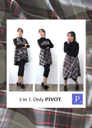 Saia pivot multiuso midi. lãzinha xadrez 2