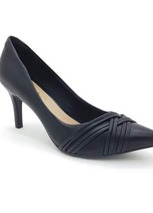Sapato scarpin salto fino alto via uno preto
