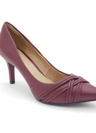 Sapato scarpin via uno salto fino bordo