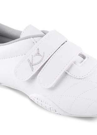 Tenis branco feminino barato casual velcro antiderrapante enfermagem branco