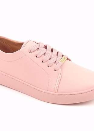 Tênis da moda rosa plataforma feminino napa casual flatform confortavel original vizzano