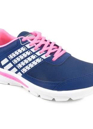 Tênis feminino zeus rkx-1 esportivo academia barato branco/marinho/pink