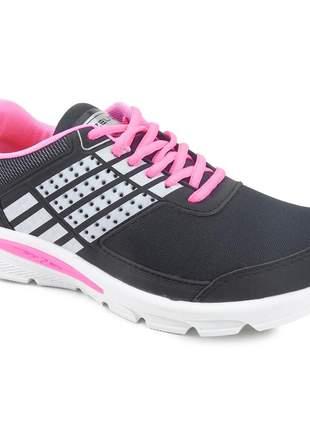 Tênis feminino zeus rkx-1 esportivo academia barato branco/preto/pink