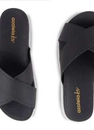 Sandália plataforma preta anabela salto baixo feminina flatform confortavel leve