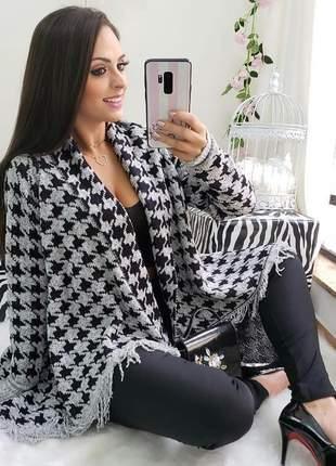 Kimono xadrez tricot
