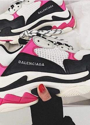 Balenciaga branco/preto/rosa