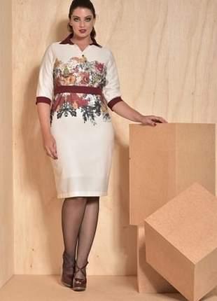 2c7ca21e5 Vestido em sarja com elastano estampa exclusiva - cassia segeti