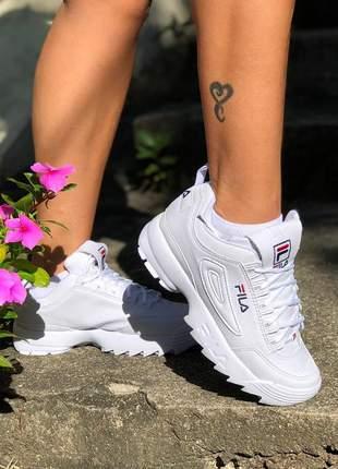 Tênis feminino fila para corrida, para caminhada, combina com tudo