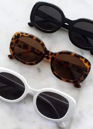Óculos de sol escuros feminino quadrado retrô vintage 90's