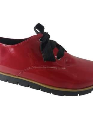 Oxford sapatoweb verniz vermelho