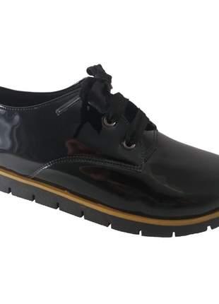 Oxford sapatoweb verniz preto