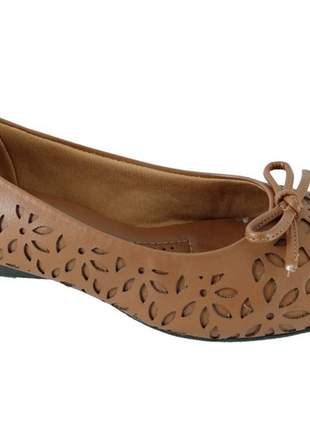 Sapatilha feminina sapatoweb confort marrom
