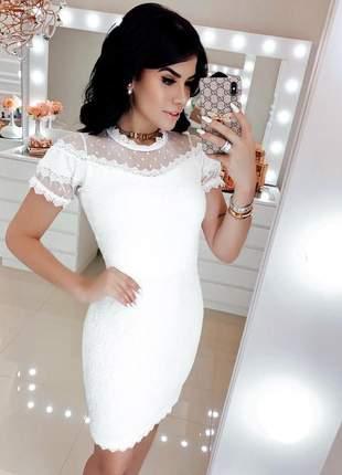 Vestido branco off white tubinho