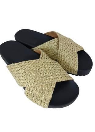 Chinelo tiras sapatoweb tranças