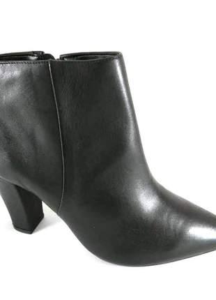 Bota cano curto sapatoweb salto preto