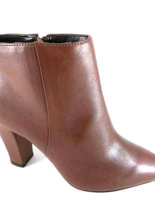 Bota cano curto sapatoweb couro marrom