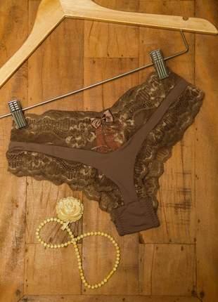 Conjunto básico de sutiã sem bojo e calcinha com renda lace - dl0002