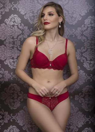 Conjunto romantic tease strass - dl2951