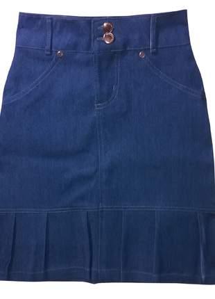 Saia infantil jeans azul