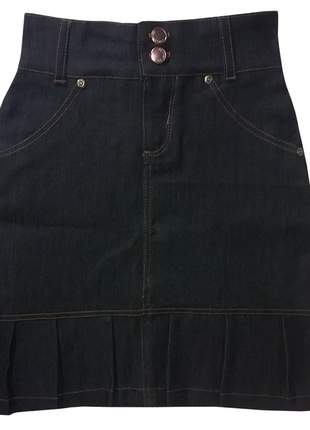 Saia infantil jeans preta