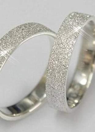 Aliança 5mm em prata  jateada
