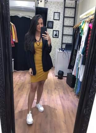 Vestido canelado alcinha