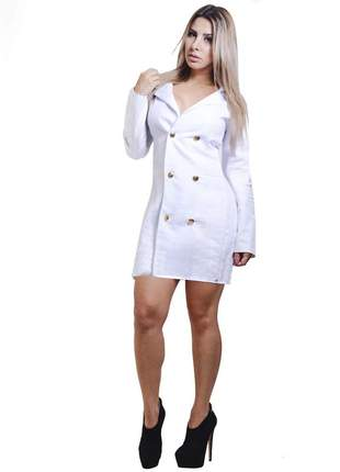 Trench coat alfaiataria off white