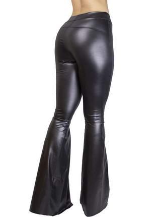 Calça dress code moda maxy flare