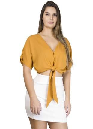 Cropped dress code moda mostarda