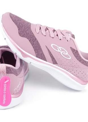 Tênis olympikus feminino esportivo fitness caminhada treino academia rosa