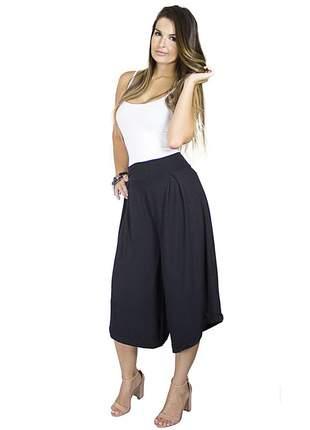 Calça dress code moda pantacourt preta